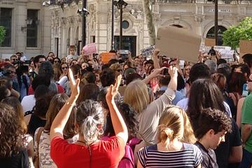Concentración en Sevilla